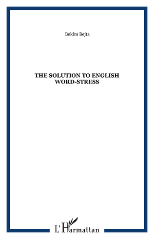 Couverture The solution to english word-stress