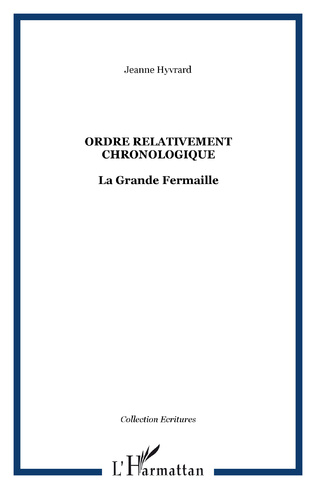 Couverture Ordre relativement chronologique