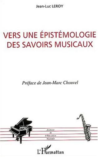 Couverture Vers une épistémologie des savoirs musicaux