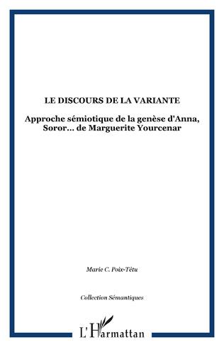 Couverture LE DISCOURS DE LA VARIANTE