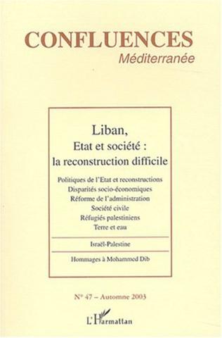 Couverture Liban, Etat et société