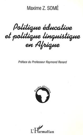 Couverture Politique éducative et politique linguistique en Afrique