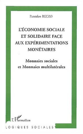 Couverture L'Économie sociale et solidaire face aux expérimentations monétaires