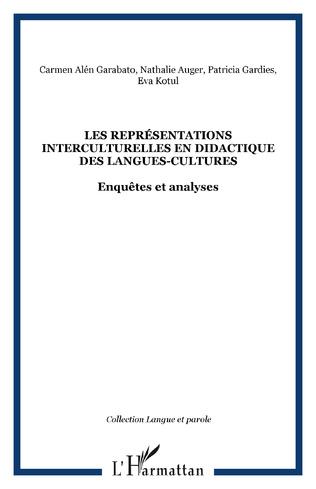 Couverture Les Représentations interculturelles en didactique des langues-cultures