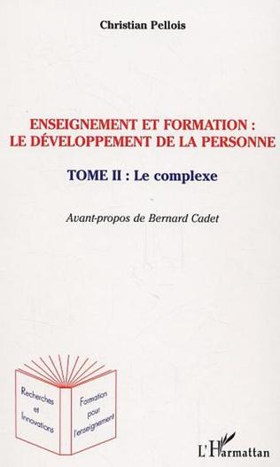 Couverture Enseignement et formation le développement de la personne