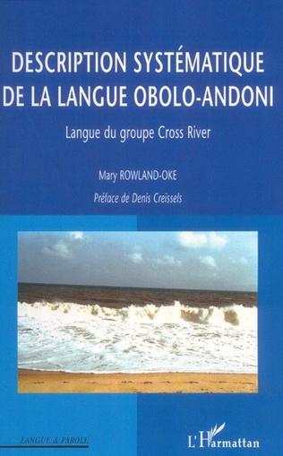 Couverture Description systématique de la langue obolo-andoni