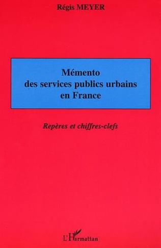 Couverture Mémento des services publics urbains en France
