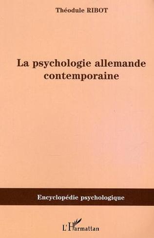 Couverture Psychologie allemande contemporaine