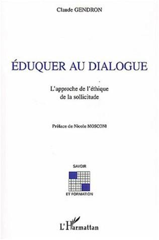 Couverture Eduquer au dialogue