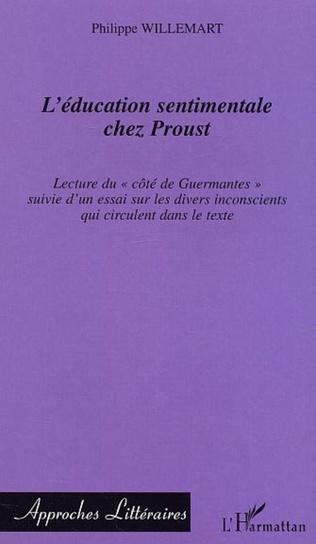 Couverture L'éducation sentimentale chez Proust