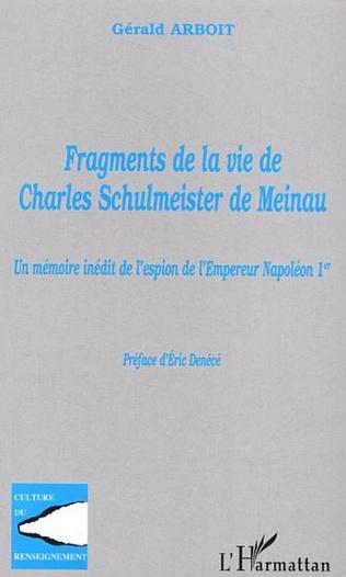 Couverture Fragments de la vie de Charles Schulmeister de Meinau