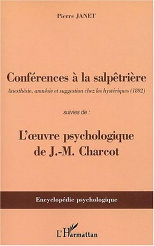 Couverture Conférences à la Salpêtrière