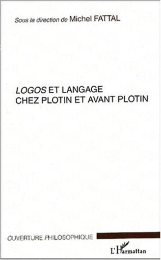 Couverture Logos et langage chez Plotin et avant Plotin