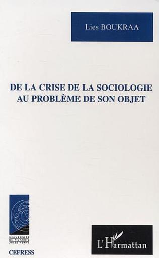 Couverture De la crise de la sociologie au problème de son objet