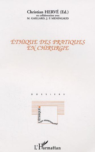 Couverture Ethique des pratiques en chirurgie