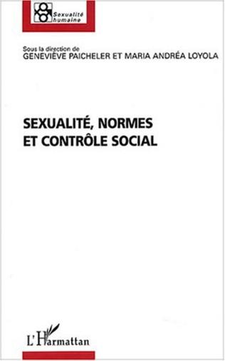 Couverture Sexualité, normes et contrôle social