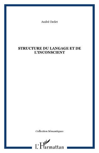 Couverture Structure du langage et de l'inconscient