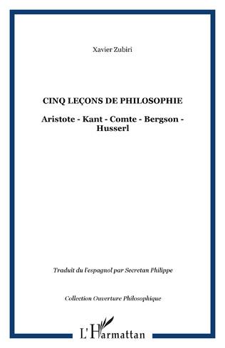Couverture Cinq leçons de philosophie