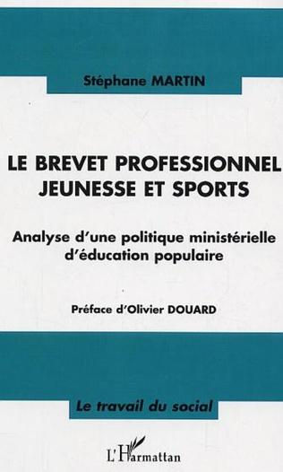 Couverture Le brevet professionnel jeunesse et sport