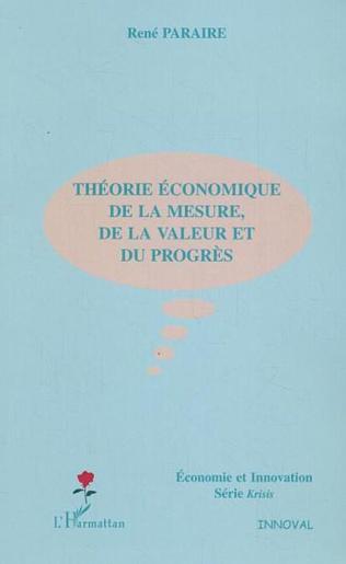 Couverture Théorie économique de la mesure, de la valeur et du progrès