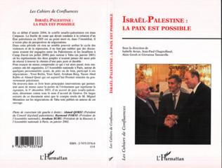 Couverture Israël  Palestine : la paix est possible