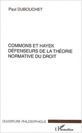 Couverture Commons et Hayek