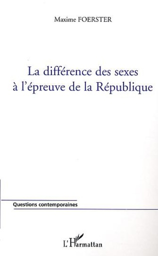 Couverture La différence des sexes à l'épreuve de la République
