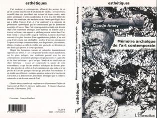 Couverture Mémoire archaïque de l'art contemporain
