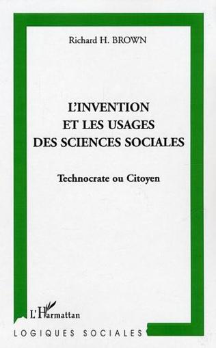Couverture L'invention et les usages des sciences sociales