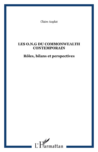 Couverture LES O.N.G du COMMONWEALTH CONTEMPORAIN