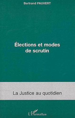 Couverture Elections et modes de scrutin