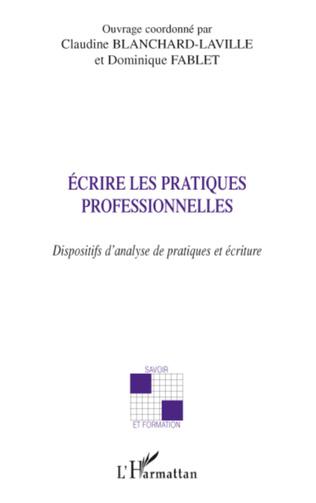 Couverture Ecrire les pratiques professionnelles