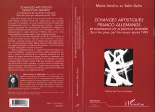 Couverture ECHANGES ARTISTIQUES FRANCO-ALLEMANDS