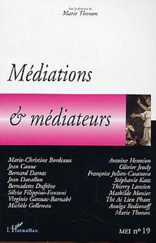 Couverture Médiations et médiateurs