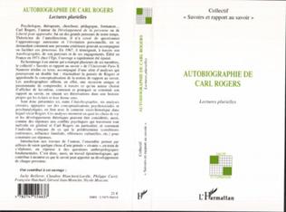 Couverture Autobiographie de Carl Rogers