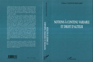 Couverture Notions à contenu variable et droit d'auteur
