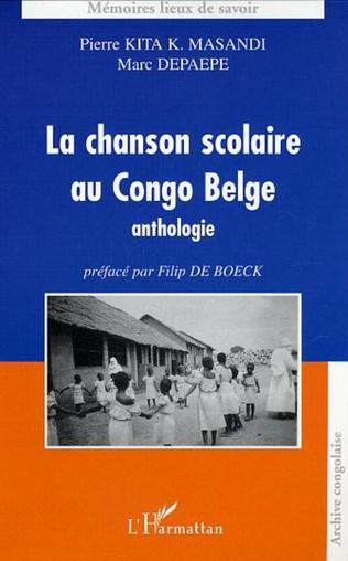 Couverture La chanson scolaire au Congo Belge