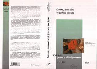 Couverture Genre, pouvoirs et justice sociale