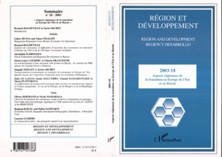 Couverture Aspects régionaux de la transition en Europe de l'Est et en Russie