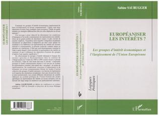 Couverture Européaniser les intérêts