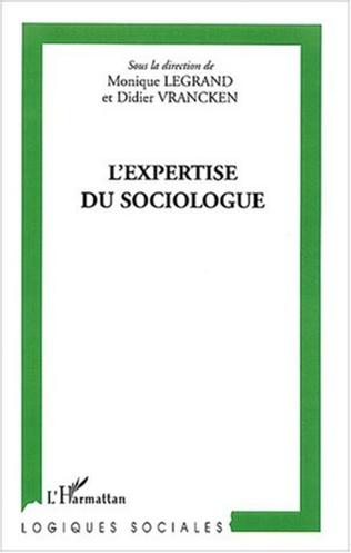 Couverture L'expertise du sociologue