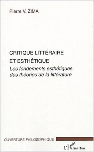 Couverture Critique littéraire et esthétique
