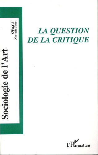 Couverture La question de la critique