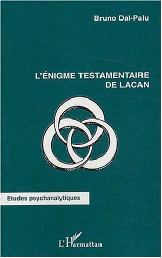 Couverture L'énigme testamentaire de Lacan