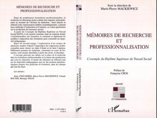 Couverture Mémoires de recherche et professionnalisation