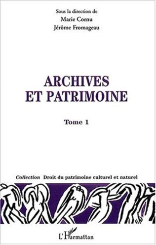 Couverture Archives et patrimoines