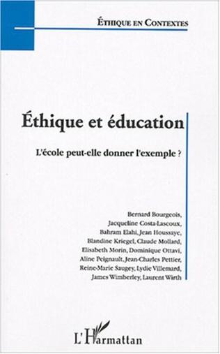 Couverture Ethique et éducation