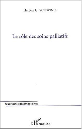 Couverture Le rôle des soins palliatifs