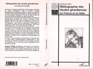 Couverture Bibliographie des études girardiennes