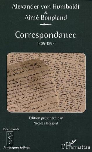 Couverture Correspondance 1805-1858